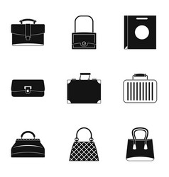 Bags for all occasions icon set simple style vector
