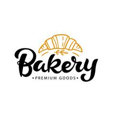bakery logotype badge label vector image