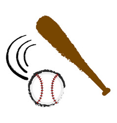 baseball bat and a ball vector image
