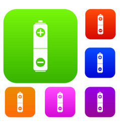 battery set collection vector image