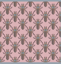 bee beetles fly maryls wasp seamless pattern vector image