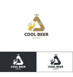 beer logo one vector image