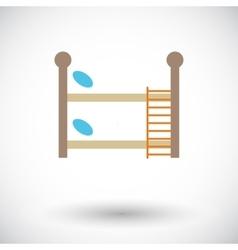 Bunk bed vector image