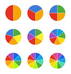 circle segments set geometry circular segment vector image