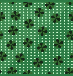 clover st patricks day pattern seamless vector image