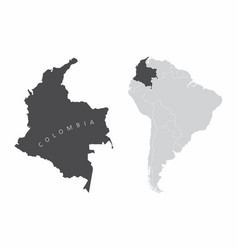 Colombia south america vector