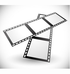 Composition of 3d filmstrips vector