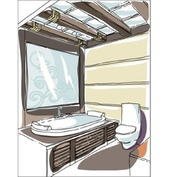 Contemporary interior doodles vector