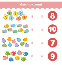 counting game for children count animals in the vector image