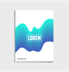 covers design for brochure with abstract blue vector image