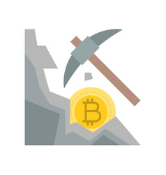 cryptocurrency mining concept flat design icon vector image
