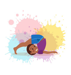 Cute cartoon gymnastics for children and healthy vector