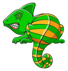 cute iguana animal cartoon vector image