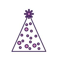 Cute purple party hat cartoon vector