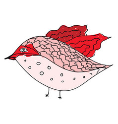 decorative bird on white background vector image