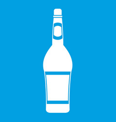 Design bottle icon white vector