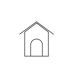 dogs house icon vector image