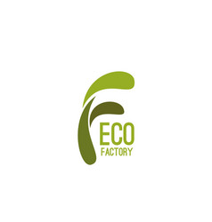 eco factory icon vector image