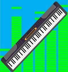 Electronic synthesizer isolated vector image