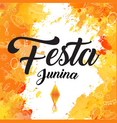 festa junina orange flash brush backgrund vector image