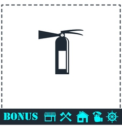 Fire extinguisher icon flat vector