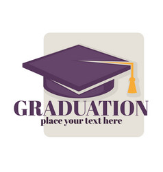 graduation isolated greeting icon or logo vector image