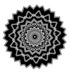 greek round black and white mandala pattern vector image
