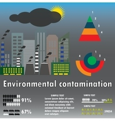 Infographics environmental contamination Ecology vector