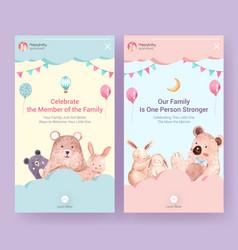 Instagram template with baby shower design vector