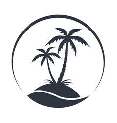 island symbol vector image