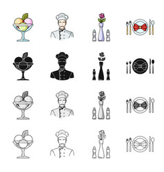 knife food restaurant and other web icon in vector image