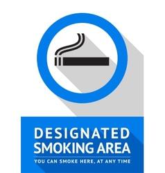 Label smoking area sticker flat design vector image