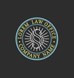 law office logo vintage attorney advocate vector image