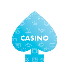 line icons in peaks shape casino vector image