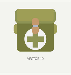 line tile color hunt and camping icon first vector image