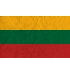 Lithuania paper flag vector image