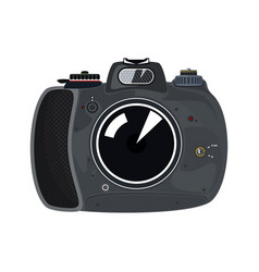 manual camera isolated on white vector image