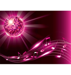 Music background disco ball vector