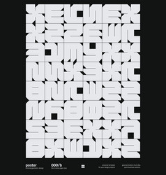 Neomodern poster design layout with abstract vector