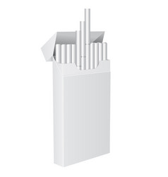Pack of cigarettes blank open pack vector