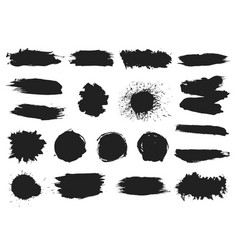 paint black blobs ink splashes graffiti splatter vector image