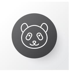 panda icon symbol premium quality isolated bear vector image vector image
