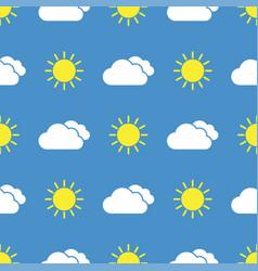 Raining cloud and falling drops seamless pattern vector