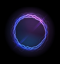 Realistic electric circle or abstract plasma round vector