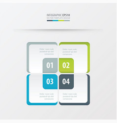 Rectangle presentation template green blue vector