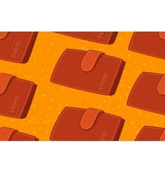Seamless Pattern with Wallet vector image