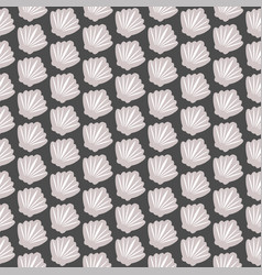 seashell seamless pattern on black vector image