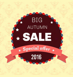 seasonal big autumn sale business background vector image