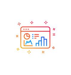 Seo statistics line icon search engine vector
