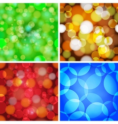 Set of abstract circles seamless pattern vector image